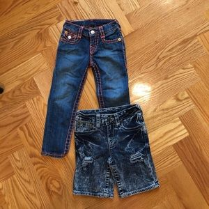True religion jeans 45$ and short 30$.